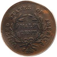 1795 C-6a R2 Plain Edge without Pole ANACS graded VG10 - 2