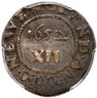1652 Massachusetts Oak Tree Shilling Noe-9 Rarity-5 PCGS Genuine, VF Details, Filed Rims - 2
