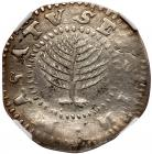 1652 Massachusetts Pine Tree Shilling Noe-11 Rarity-4 NGC XF Details, Improperly Cleaned