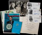 [Presidential Memorabilia]--Eisenhower, Nixon, George H.W. Bush, Reagan, Clinton, Reagan + Betty Ford